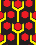 Hex and nut pattern