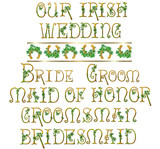 IrishShamrock Wedding Set