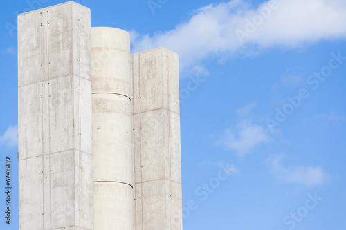 Construction Concrete Columns Highway Intersection