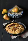 Homemade pear cranberry tart