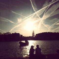 River Amstel, Amsterdam, Netherlands