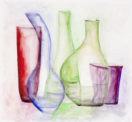 Gentle colored glass