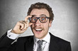 Surprised businessman with glasses