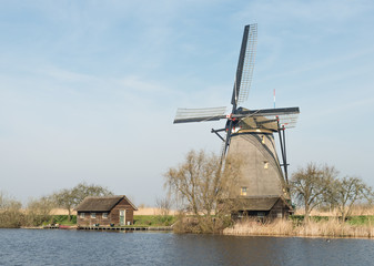 Windmill in Kinderdijk