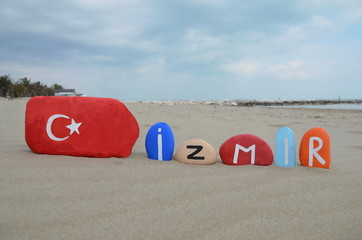 Izmir, Smirne,  Turkey, souvenir on colourful stones