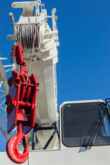 Mobile Crane Hook Red White