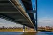 canvas print picture - Düsseldorf Rheinbrücke