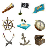 3D Iconset Piraten
