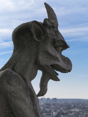 Chimera on Notre Dame Cathedral's balcony