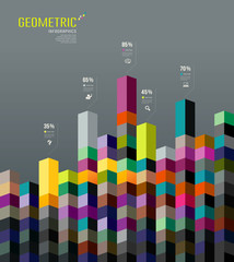 Abstract Geometric paper infographic