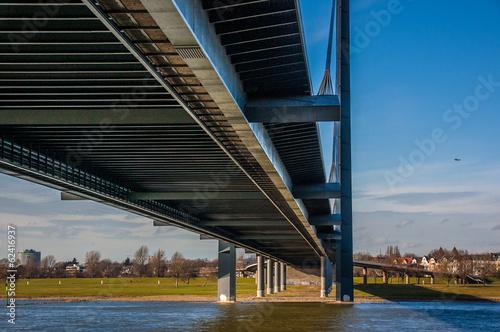 canvas print picture Düsseldorf Rheinbrücke