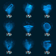 3D Iconset Piraten Hologramme