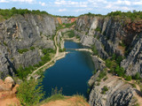 Stone quarry Big America near Prague, Czech Republic