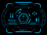 Futuristic user interface HUD