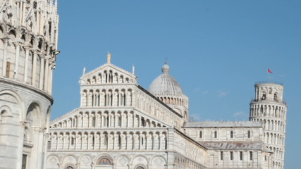 the Tower of Pisa and the Duomo cathedral, Tuscany, Italy