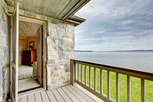 Walkout deck overlooking amazing landscape