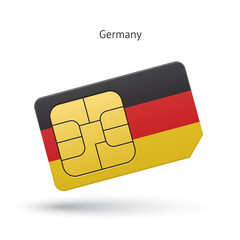 Germany mobile phone sim card with flag.