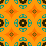 Vector multicolor ethnic pattern Indian motifs