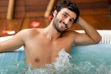 Smiling man in a spa