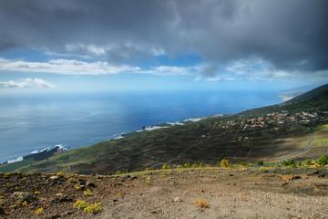 Los Canarios Volcanic Landscape from Teneguia volcano
