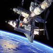Space Shuttle And Space Station - 62419154
