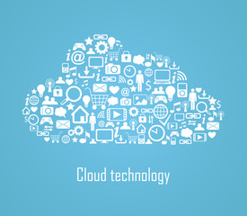 Cloud technology illustration eps 8