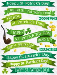 Set of ribbon for St. Patrick's Day, vector illustration