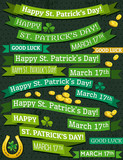 Set of ribbon for St. Patrick's Day, vector