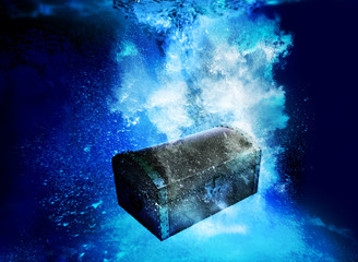 treasure chest underwater