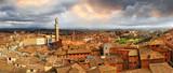 beautiful Siena,Italy.  panoramic image