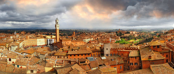 beautiful Siena,Italy.  panoramic image