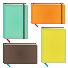 Vector color sketchbooks setl