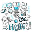 Doodle social media signs - 62420922