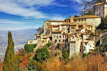 Medieval Town Todi - scenic Italy series