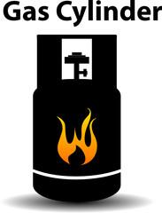 Gas propane butane danger sign