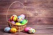 Easter eggs in the basket - 62421353