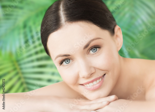 smiling woman in spa salon
