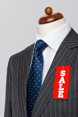 Side view Grey pinstripe suit Sale