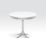 Vector Empty Round Table