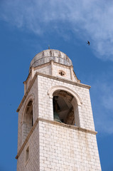 Photo of the historic Bell Tower of Dubrovnik, Croatia