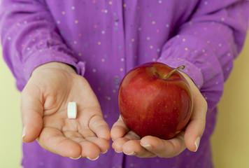 Healthy choice - pills or apple