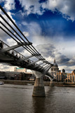 St. Paul`s Cathedral and Millennium Bridge