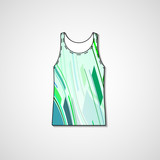Abstract illustration on singlet, template editable.