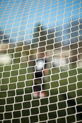 Close-up of goal net