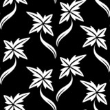 Black white seamless wallpaper pattern