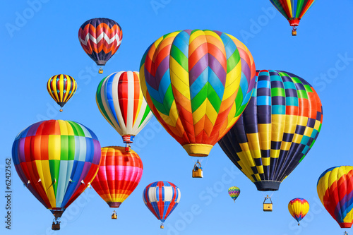 Colorful hot air balloons - 62427562