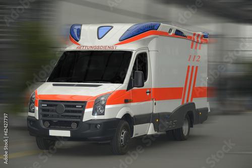 Foto op Plexiglas Motorsport Rettungswagen - 112