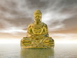 Golden buddha - 3D render
