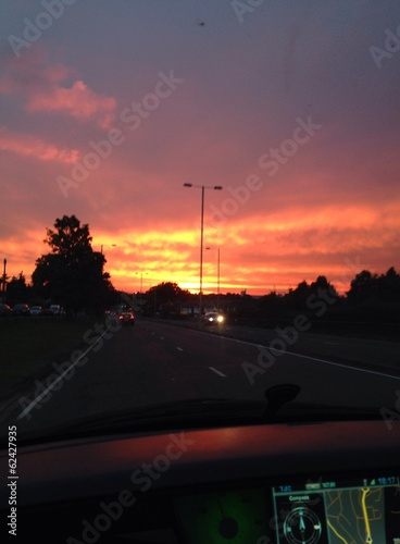 Driving into the Sunset/Sunrise