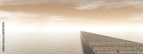 Naklejka Pontoon - 3D render